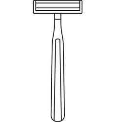 classic razor icon outline style vector image