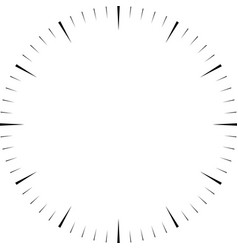 Clock face blank hour dial wedges mark minutes vector