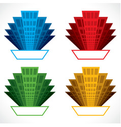 colorful building icon stock vector image