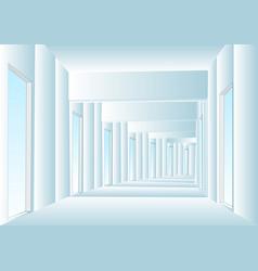 corridor vector image