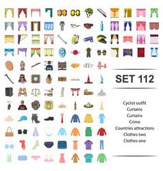 Cyclist outfit curtain vector