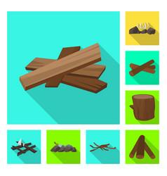 Design material and logging symbol vector