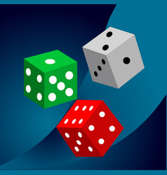 Dice casino design background vector