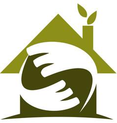 eco home logo design template vector image