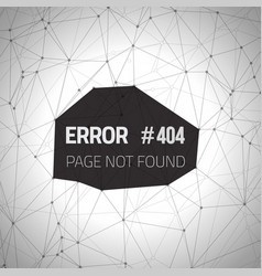 Error 404 Futuristic Wireframe Background vector