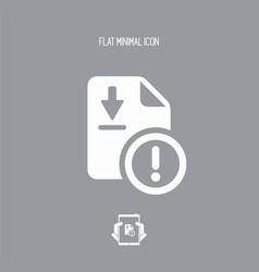 File dowload error - flat minimal icon vector