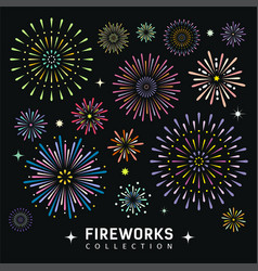 Firework collections design background vector