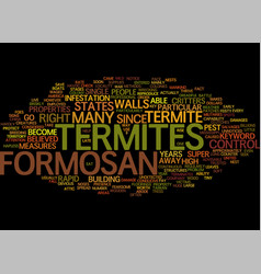 Formosan termites text background word cloud vector