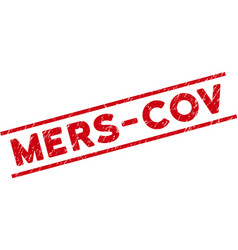 Grunge mers-cov watermark with message and lines vector
