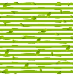 Grunge stripes and summer leaves background vector image