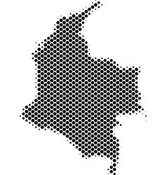 Halftone dot colombia map vector