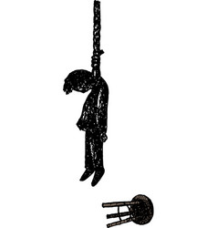 hangman on rope noose vector image