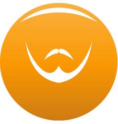 Human face icon orange vector