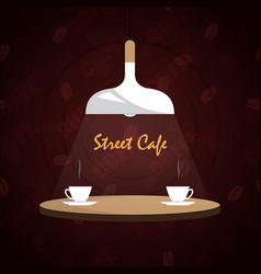 logo street cafe vector image