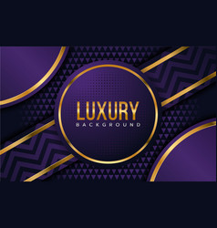 luxury purple background with overlap layer vector image
