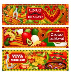 mexican holiday party cinco de mayo in mexico vector image
