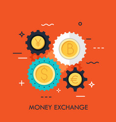 money exchange concept vector image