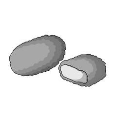 Nugget single icon in monochrome stylenugget vector