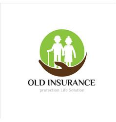 Old parents insurance logo designs simple modern vector