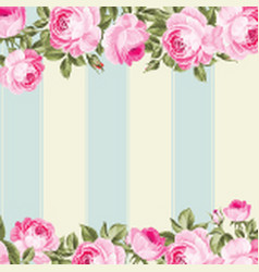 Ornate pink flower border vector