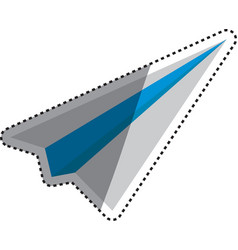 Paper plane origami vector image