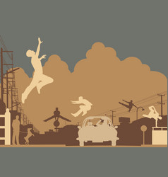 Parkour color vector