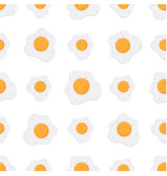 Pattern scrambled eggs omelet cartoon flat style vector