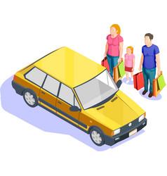 people shopping isometric vector image