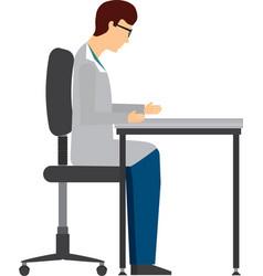 Professional scientific man job isolated icon vector