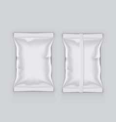 realistic food snack pillow bag for branding vector image