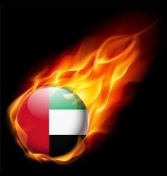 Round glossy icon of uae vector