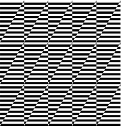 seamless geometric op art pattern vector image
