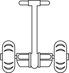 Segway transport icon outline style vector