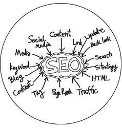 Seo icon vector