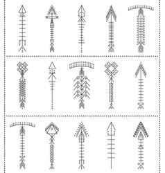 Set of geometric hipster arrows11 vector