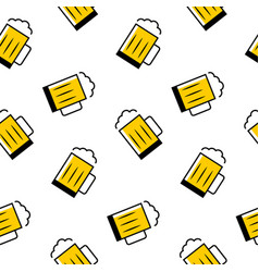 simple beer mug seamless pattern vector image