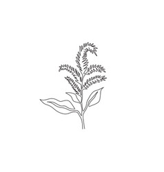 Single one line drawing beauty fresh vector