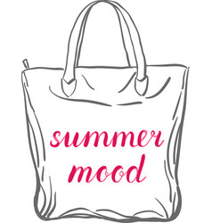 Summer mood lettering vector