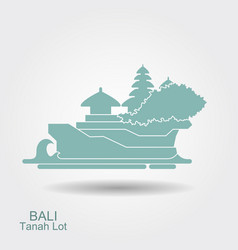 Tanakh lot temple on bali indonesia vector