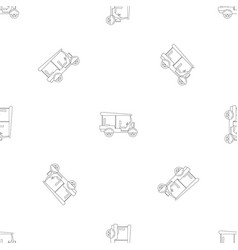 Taxi rickshaw icon outline style vector