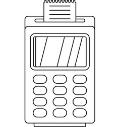 terminal cashless payment icon outline style vector image
