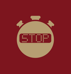 The stop stopwatch icon Clock and watch timer vector
