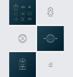 Trendy Retro Vintage Insignias and Logo vector