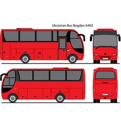 Ukrainian bus bogdan a403 vector