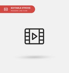Video simple icon symbol vector