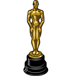 vintage cinematic academy award template vector image