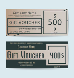 Vouchers vector image