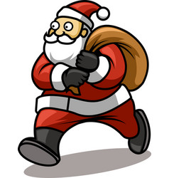 Walking Santa vector