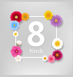 woman day banner with flowers vector image