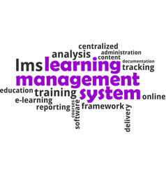 word cloud - learning management system vector image